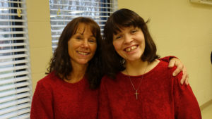 Cindy Noonan and her mother smile for the camera