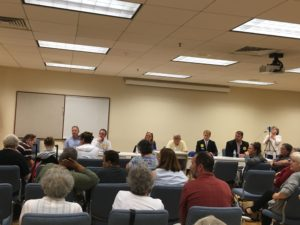 Political candidates participate in a Legislative Forum held by Arc of the New River Valley