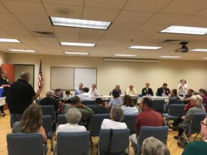 An advocate speaks at a legislative Forum held by Arc of the New River Valley