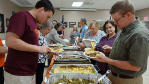 The buffet line at the 2018 Annual Event