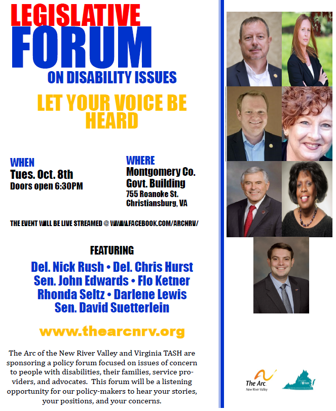 Legislative Forum on Disability Issues: Let Your Voices Be Heard! October 8, 2019